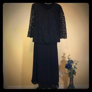 Maggy London Black Lace Skirt Set